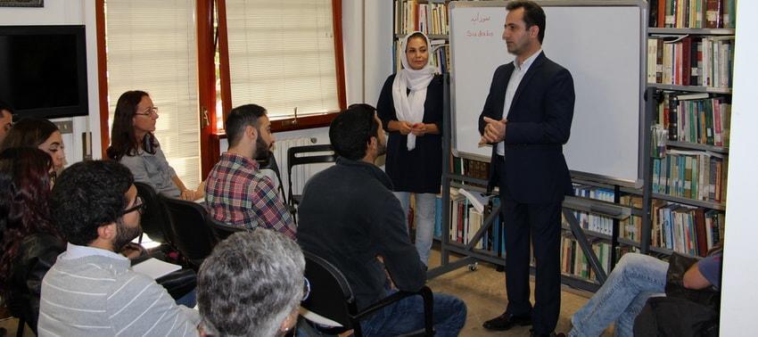 Kursi i Gjuhës Persiane, Mësimi, në Institutin Kulturor