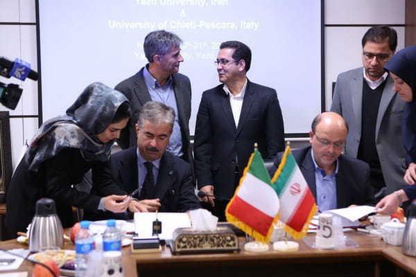 Delegacija dnunzio posjetila je Yazd univerzitet u Iranu