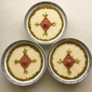 Shir berenj - Puding orizi me aromë Rose