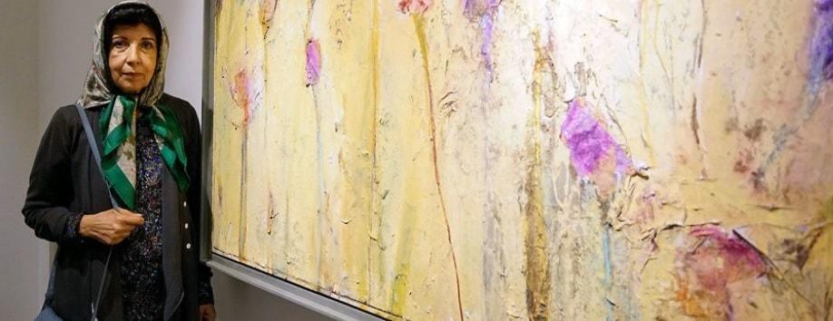 Las pinturas abstractas del artista iraní