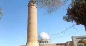 Il minareto della moschea Jām'eh della città di Khāsh