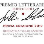 PREMIO LETTERARIO PONTE SISTO
