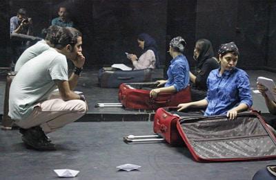 Shfaqja e teatrit mesdhetar në Itali.