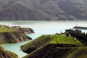 Lake of the Latian dam
