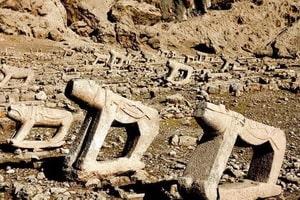 الأسد الحجري