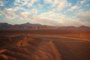The deserts of the Yazd region
