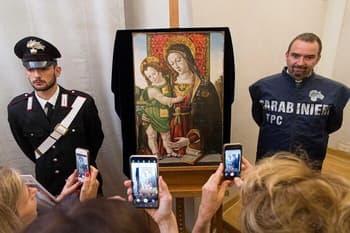کشف نقاشی مسروقه مریم مقدس و کودپ اپر کینتوریکیو