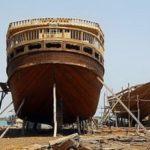 L'antica tradizionali di costruzione dell'imbarcazione iraniane Lenj nel Golfo Persico