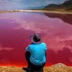Lo spettacolare lago Maharloo in Iran